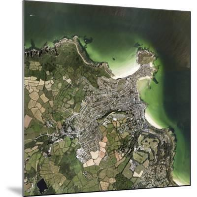 St Ives, Cornwall, UK, Satellite Image-Getmapping Plc-Mounted Photographic Print