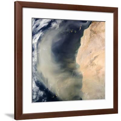 Dust Storm Over the Cape Verde Islands-PLANETOBSERVER-Framed Photographic Print