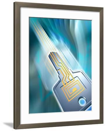 Electronic Data Security-PASIEKA-Framed Photographic Print