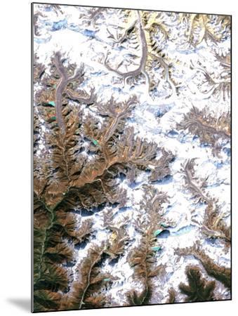 Mount Everest, Satellite Image-PLANETOBSERVER-Mounted Photographic Print
