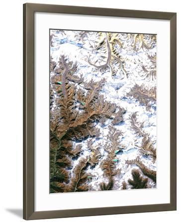 Mount Everest, Satellite Image-PLANETOBSERVER-Framed Photographic Print
