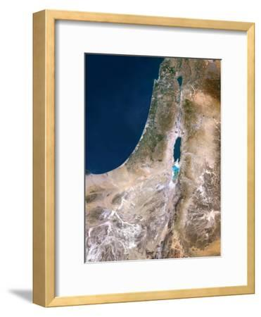 Israel, Satellite Image-PLANETOBSERVER-Framed Photographic Print