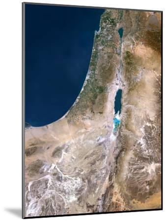 Israel, Satellite Image-PLANETOBSERVER-Mounted Photographic Print