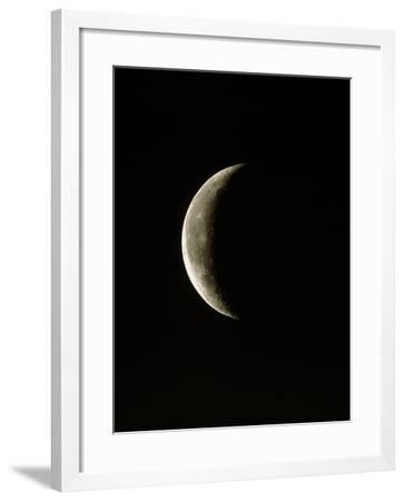 Optical Image of a Waning Crescent Moon-John Sanford-Framed Photographic Print