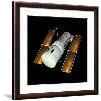 Hubble Space Telescope, Artwork-Friedrich Saurer-Framed Photographic Print