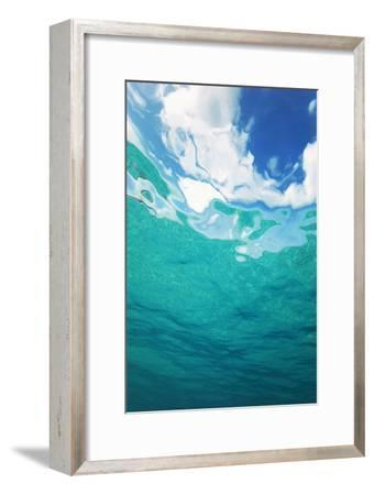 Clouds From Underwater-Peter Scoones-Framed Photographic Print