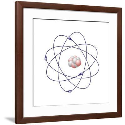 Beryllium, Atomic Model-Friedrich Saurer-Framed Photographic Print