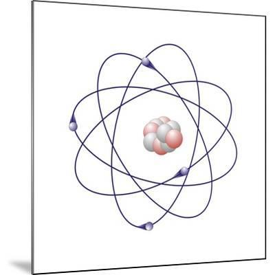 Beryllium, Atomic Model-Friedrich Saurer-Mounted Photographic Print