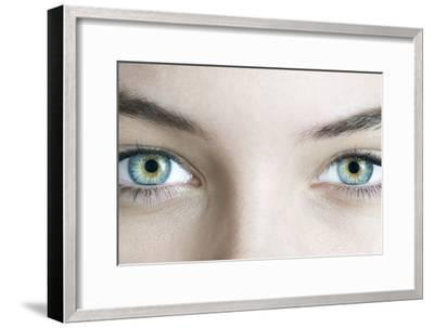 Woman's Eyes-Science Photo Library-Framed Photographic Print