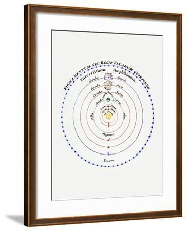 Diagram of Copernican Cosmology-Science Photo Library-Framed Photographic Print