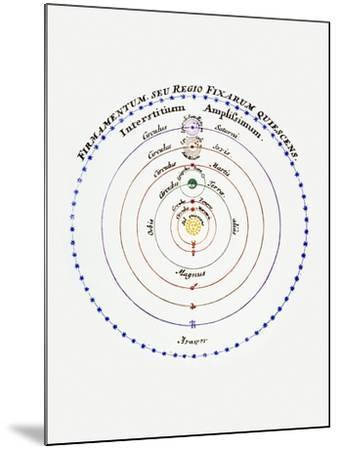 Diagram of Copernican Cosmology-Science Photo Library-Mounted Photographic Print
