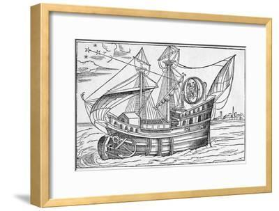 Ship with Gimballed Chair, 16th Cent.-Middle Temple Library-Framed Photographic Print