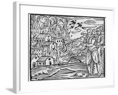 Witches Burning a Town, 17h Century-Middle Temple Library-Framed Photographic Print