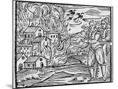 Witches Burning a Town, 17h Century-Middle Temple Library-Mounted Photographic Print