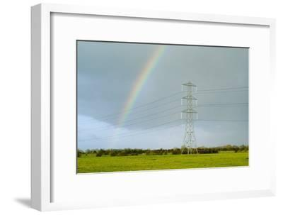 Rainbow Over Power Lines-Duncan Shaw-Framed Photographic Print