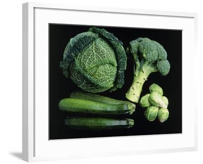 Green Vegetable Selection-Damien Lovegrove-Framed Photographic Print