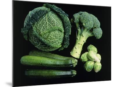 Green Vegetable Selection-Damien Lovegrove-Mounted Photographic Print