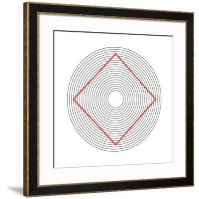 Ehrenstein Illusion, Square In Circles-Science Photo Library-Framed Photographic Print