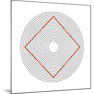 Ehrenstein Illusion, Square In Circles-Science Photo Library-Mounted Photographic Print