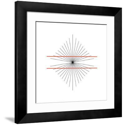 Hering Illusion-Science Photo Library-Framed Photographic Print