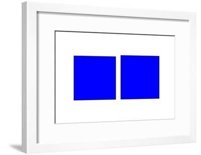 Square Illusion - Vertical Lines Appear Longer-Science Photo Library-Framed Photographic Print
