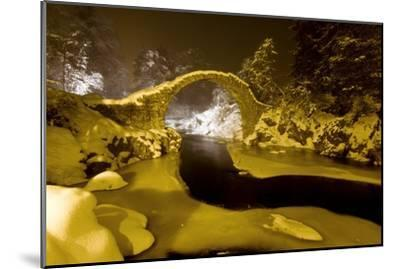 Carr Bridge At Night In Winter-Duncan Shaw-Mounted Photographic Print