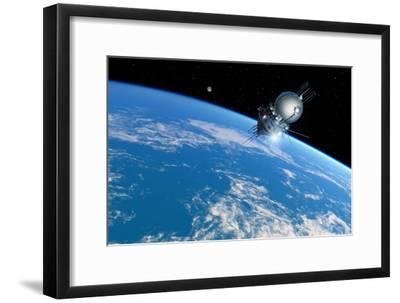 Vostok 1 Orbiting the Earth, 1961-Detlev Van Ravenswaay-Framed Photographic Print