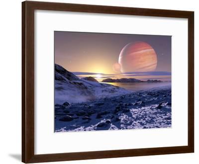 Jupiter From Europa, Artwork-Detlev Van Ravenswaay-Framed Photographic Print
