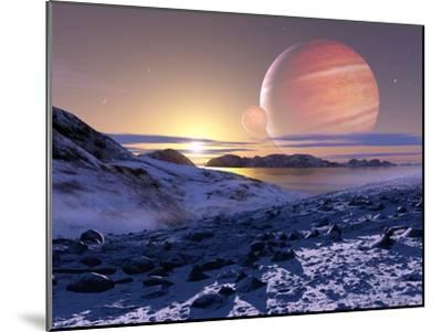 Jupiter From Europa, Artwork-Detlev Van Ravenswaay-Mounted Photographic Print
