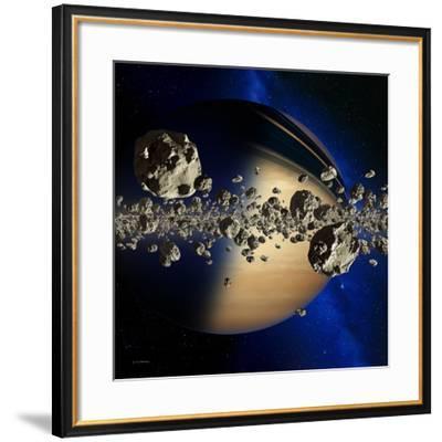 Saturn's Ring System-Detlev Van Ravenswaay-Framed Photographic Print