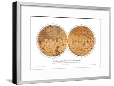 Schiaparelli's Map of Mars, 1882-1888-Detlev Van Ravenswaay-Framed Photographic Print