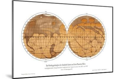 Schiaparelli's Map of Mars, 1882-1888-Detlev Van Ravenswaay-Mounted Photographic Print