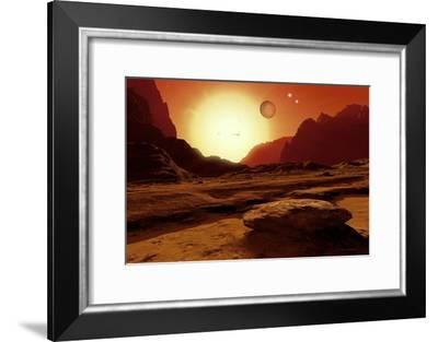 Landscape of An Alien World, Artwork-Detlev Van Ravenswaay-Framed Photographic Print