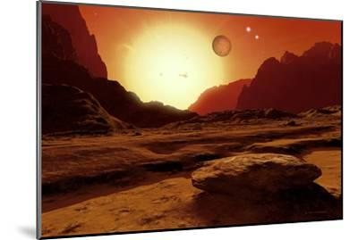 Landscape of An Alien World, Artwork-Detlev Van Ravenswaay-Mounted Photographic Print