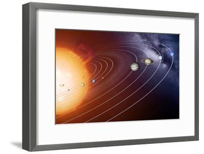 Solar System Orbits, Artwork-Detlev Van Ravenswaay-Framed Photographic Print