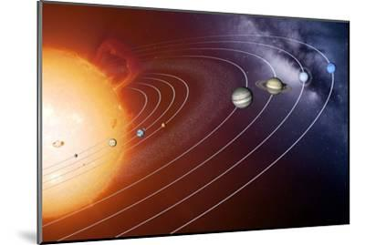 Solar System Orbits, Artwork-Detlev Van Ravenswaay-Mounted Photographic Print