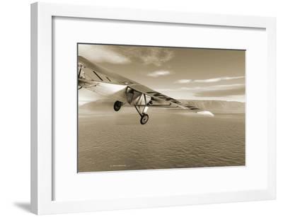 First Solo Transatlantic Flight, 1927-Detlev Van Ravenswaay-Framed Photographic Print