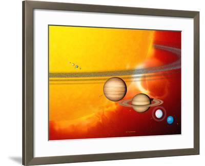 Sun And Its Planets-Detlev Van Ravenswaay-Framed Photographic Print
