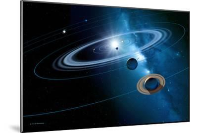 Solar System-Detlev Van Ravenswaay-Mounted Photographic Print