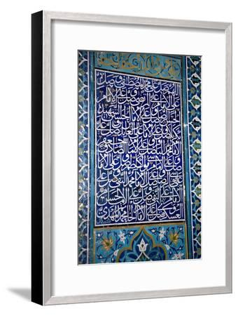 Calligraphic Mosaic, Iran-Dirk Wiersma-Framed Photographic Print