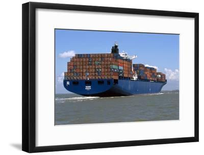 Container Ship At Sea-Dirk Wiersma-Framed Photographic Print
