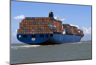 Container Ship At Sea-Dirk Wiersma-Mounted Photographic Print
