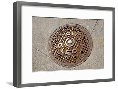 Manhole Cover In Chicago-Mark Williamson-Framed Photographic Print