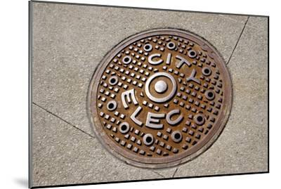 Manhole Cover In Chicago-Mark Williamson-Mounted Photographic Print
