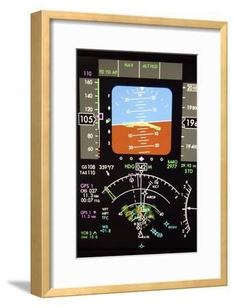 Aeroplane Control Panel Display-Mark Williamson-Framed Photographic Print