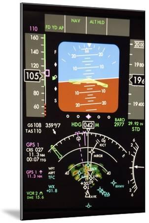 Aeroplane Control Panel Display-Mark Williamson-Mounted Photographic Print