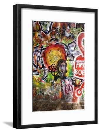 Lennon Wall, Prague-Mark Williamson-Framed Photographic Print