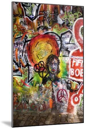 Lennon Wall, Prague-Mark Williamson-Mounted Photographic Print
