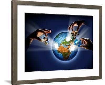 Learning About the Earth, Artwork-SMETEK-Framed Photographic Print