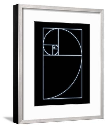 Fibonacci Spiral, Artwork-SEYMOUR-Framed Photographic Print